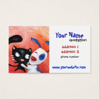 soin des animaux familiers, vétérinaires, amoureux cartes de visite