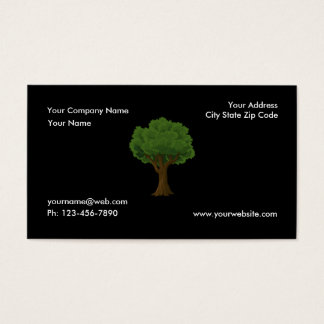 Soin et paysage verts de pelouse de jardin d'arbre cartes de visite