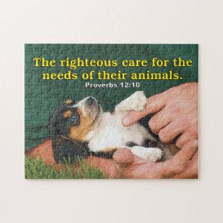 Soin juste pour les besoins de leurs animaux puzzle