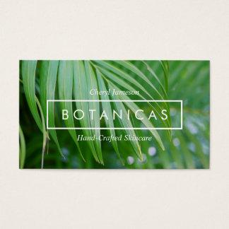 Soins de la peau tropicaux organiques de feuille, cartes de visite