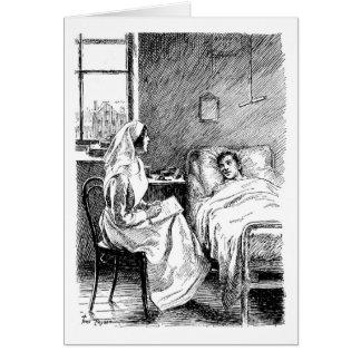 Soins du malade, carte de voeux