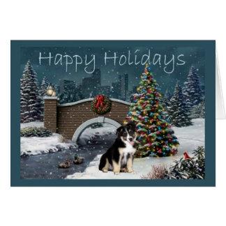 Soirée australienne de carte de Noël de berger