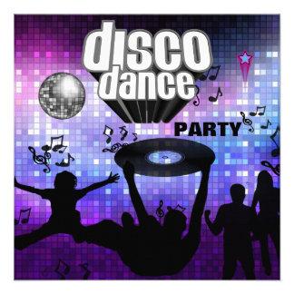 Soirée dansante de disco d invitation rétro