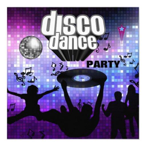 Soirée dansante de disco d'invitation rétro