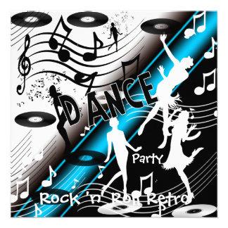 Soirée dansante de rock d invitation rétro