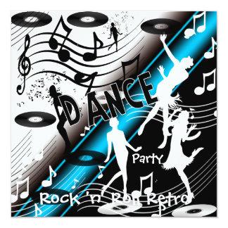 Soirée dansante de rock d'invitation rétro
