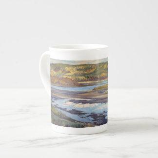 Soirée d'Athabasca - tasse de porcelaine tendre