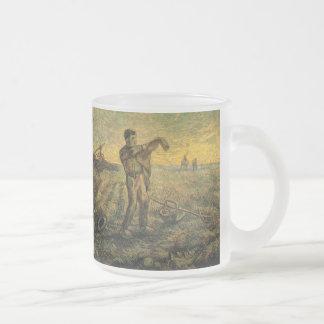 Soirée de Van Gogh : Fin du jour, art vintage Mug En Verre Givré