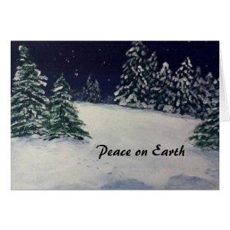 Soirée paisible d'hiver cartes de vœux