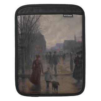 Soirée pluvieuse sur l'avenue de Hennepin, c.1902 Poches Pour iPad
