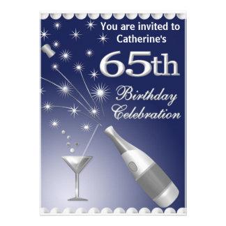 soixante-cinquième Invitation de fête d anniversai
