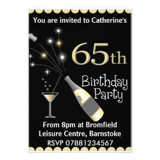 soixante-cinquième Invitation de fête d'anniversai