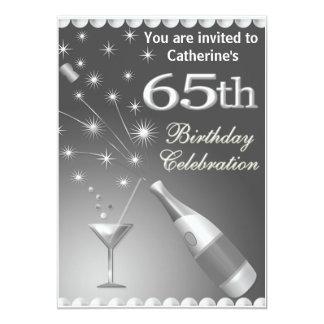 soixante-cinquième Invitation de fête Carton D'invitation 12,7 Cm X 17,78 Cm
