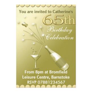 soixante-cinquième Invitations de fête d'anniversa