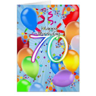soixante-dixième anniversaire - carte
