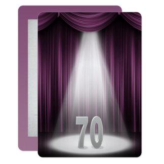 soixante-dixième Anniversaire de noces d'argent Carton D'invitation 12,7 Cm X 17,78 Cm