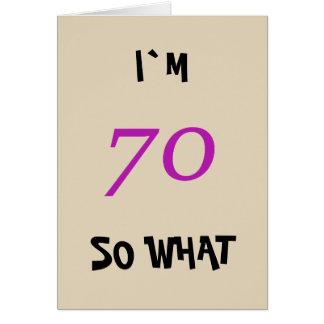soixante-dixième Anniversaire pour elle drôle Carte De Vœux