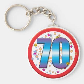 soixante-dixième Anniversaire v2 Porte-clés