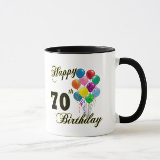 Soixante-dixième cadeaux d'anniversaire et tasse