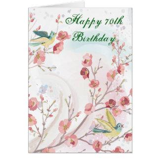 soixante-dixième Carte d'anniversaire