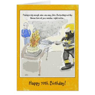 Soixante-dixième carte d'anniversaire drôle pour