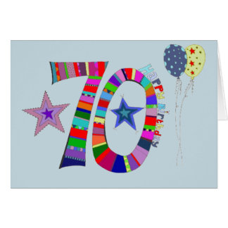 soixante-dixième Carte d'anniversaire heureuse