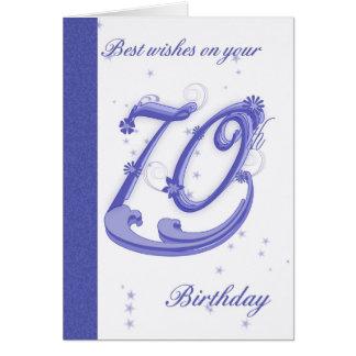 soixante-dixième Carte d'anniversaire, meilleurs