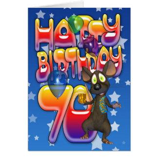 soixante-dixième Carte d'anniversaire mignonne