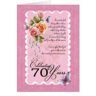 soixante-dixième carte de voeux d'anniversaire -