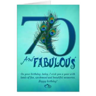 soixante-dixième Cartes de modèle d'anniversaire
