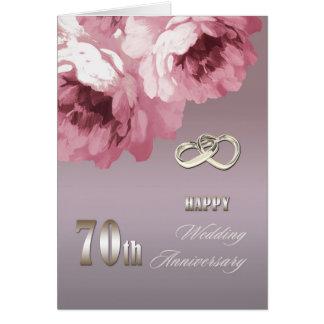 Soixante-dixième cartes de voeux heureuses d'anniv