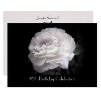 soixante-dixième Célébration de fête Carton D'invitation 12,7 Cm X 17,78 Cm