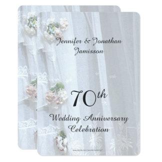 soixante-dixième Fête d'anniversaire de mariage, Carton D'invitation 12,7 Cm X 17,78 Cm