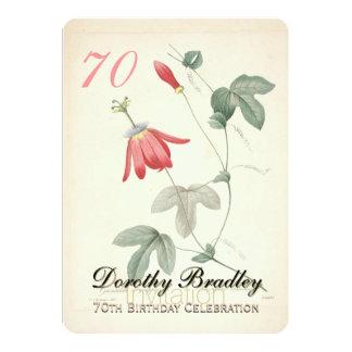 soixante-dixième Fête d'anniversaire - invitation
