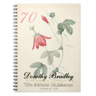 soixante-dixième Fête d'anniversaire - livre Carnet