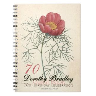 soixante-dixième Fête d'anniversaire - livre Carnets