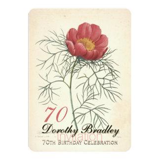 Soixante-dixième invitation de célébration