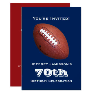 soixante-dixième Invitation de fête