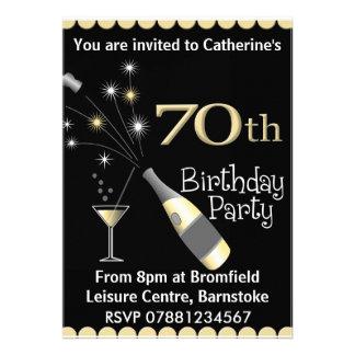 soixante-dixième Invitation de fête d'anniversaire