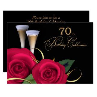 soixante-dixième Invitations de coutume de