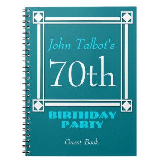 Soixante-dixième livre d'invité d'anniversaire de