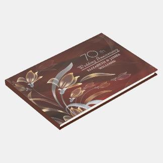soixante-dixième Livre d'invité élégant de