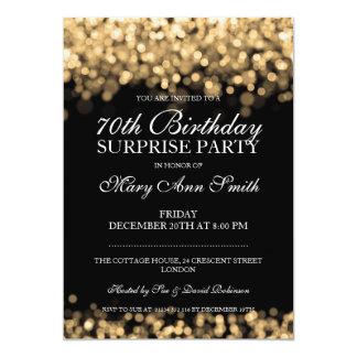 soixante-dixième Lumières d'or de fête Carton D'invitation 12,7 Cm X 17,78 Cm