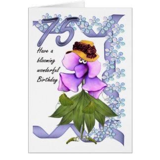 soixante-quinzième Carte d'anniversaire avec des
