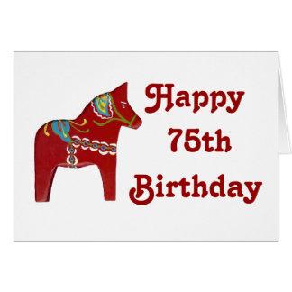 soixante-quinzième Carte d'anniversaire avec le