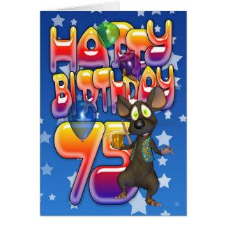 soixante-quinzième Carte d'anniversaire mignonne