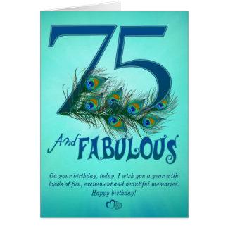 soixante-quinzième Cartes de modèle d'anniversaire