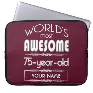 soixante-quinzième D anniversaire des mondes rouge Housses Ordinateur