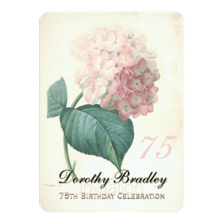soixante-quinzième Fête d'anniversaire - Faire-part Personnalisables