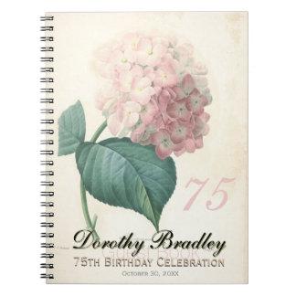 soixante-quinzième Fête d'anniversaire - livre Carnet